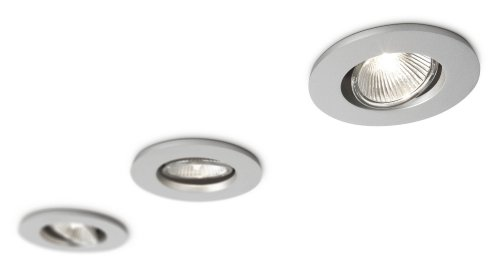 Philips SmartSpot Agena Recessed Spotlight Aluminium (Includes 3 x 35 Watts GU10 Bulb) Test