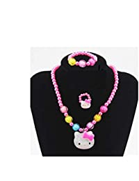 9abe79d59 Hello Kitty Kids Jewelry Set   Girl Kids Hello Kitty Necklace, Bracelet &  Ring