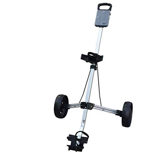 Mitrc Golfwagen, 2-Rad Faltbarer Golfwagen Push-Pull-Wagen Aluminium-Wagen Golf Training Golfwagen (Holder Cart Golf Push Cup)