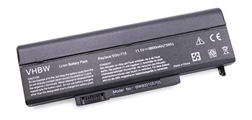vhbw Batterie 6600mAh pour notebook M-150XL Slate Grey Ridgeview