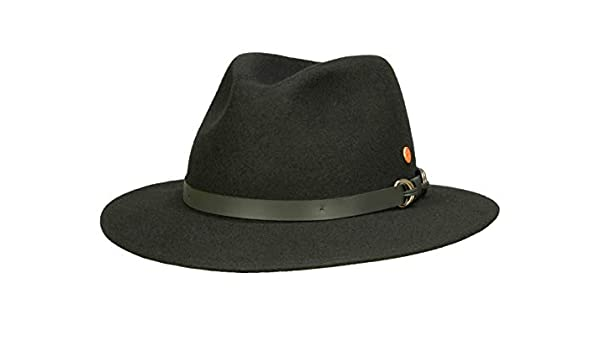 d3a42257361 Mayser Men s Cowboy Hat Grey Dark Grey 0-3 Months - Black - Small   Amazon.co.uk  Clothing