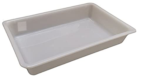 6 Litre (L 430 x W 280 x H 75mm) - White Shallow Nesting Food Grade Storage Tray Commercial Display Box (6)