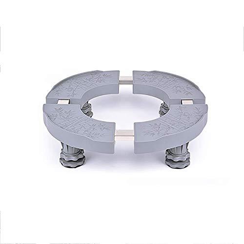 BJYG Großgerätesockel, Standfuß, Multifunktionsplattform, Verstellbare Größe Vierbeinfuß Geeignet für große Möbel Waschmaschine Kühlschrankschrank (Farbe: Grau) - 23 Kunststoff-platten Runde