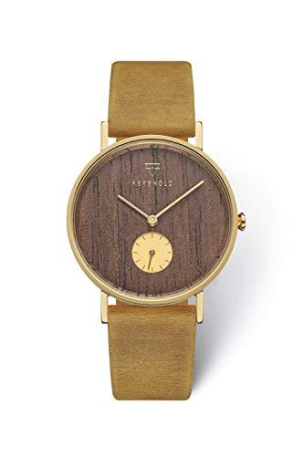 KERBHOLZ Holzuhr Uhr - Elements Collection Frida analoge Damenuhr, Quarz Uhr mit...