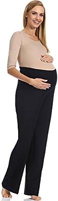 Be Mammy Pantalones de maternidad para mujer GX211