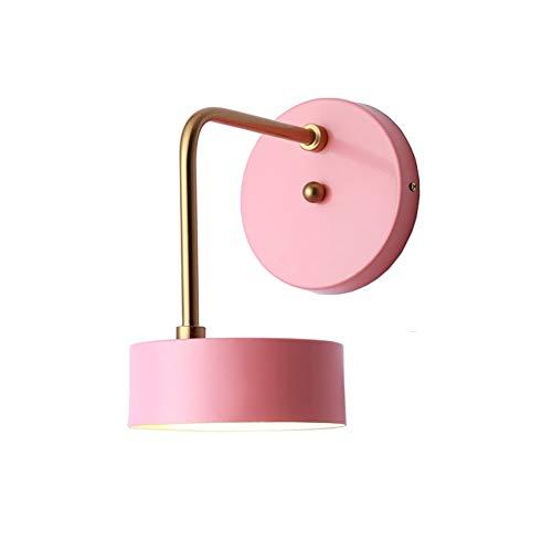 Bambus-schlafzimmer Kopfteil (ZHANG NAN ● Nordic Wall Lights Modernes und einfaches Wohnzimmer treppengang Schlafzimmer kopfteil Hintergrundwandleuchte E27 (Farbe: Rosa) ●)