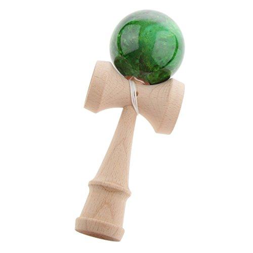 Desconocido Juguete Bola de Habilidad Japón Tradicional Mármol Kendama Madera Niños - Verde