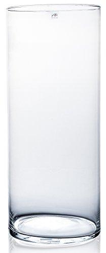 Glasvase CYLI klar zylindrisch 60 cm Ø 25 cm von Sandra Rich