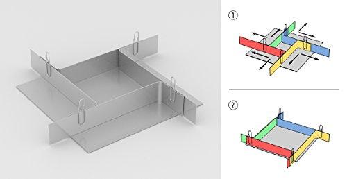 TFC Troll Factory Formbaurahmen I Modellbau Zubehör I Aluminum, variabel I Höhe 50 mm