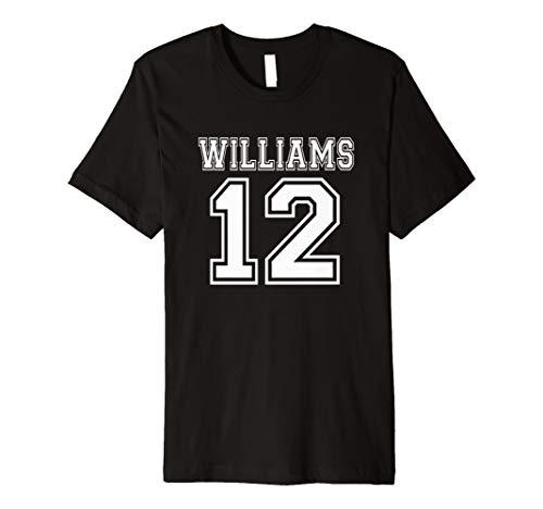 (Williams 12Zwölf T Shirt Athletic Nummer Jersey Stil)