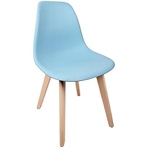 Shell chair Copenhagen con gambe in legno sedia Schalensessel sedia
