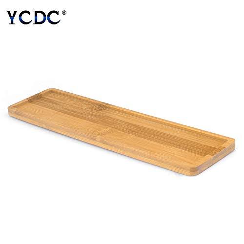 YCDC Mini Rechteck Topf Untertasse Sukkulente Übertopf Bonsai Blumen Boxen Tablett 25x 6cm
