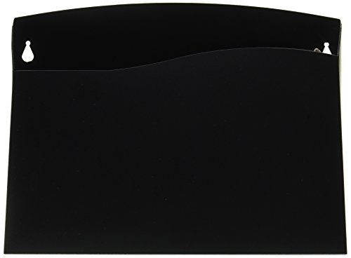 Cubicle Wall File Pocket, 12 1/2 x 1 3/8 x 9 1/2, Black, Sold as 1 Each