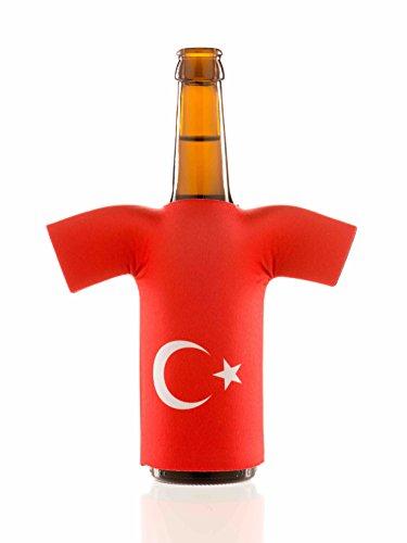 Flaschentrikot Türkei - Flaschenkühler, Bierkühler, Getränkekühler aus Neopren - Fanartikel und Partyspaß zum Grillen, Public Viewing und Feiern
