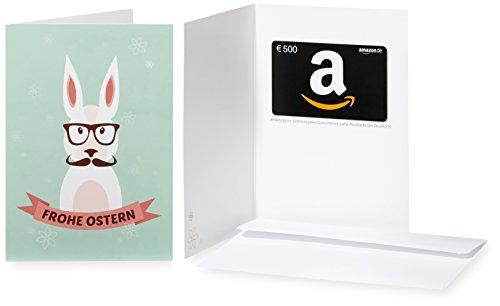 Amazon.de Geschenkkarte in Grußkarte - 500 EUR (Hipster-Hase)