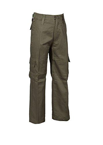 Robuste + Komfortable US Style Kinder Jungen Mädchen Rangerhose Freizeithose Kampfhose viele verschiedene Farben S-XXXL (M (134/140), Oliv)