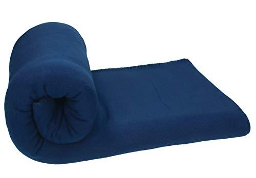 Betz Fleecedecke Kuscheldecke Wohndecke Farbe dunkel blau Größe 130x170 cm Qualität: 220 g/m²
