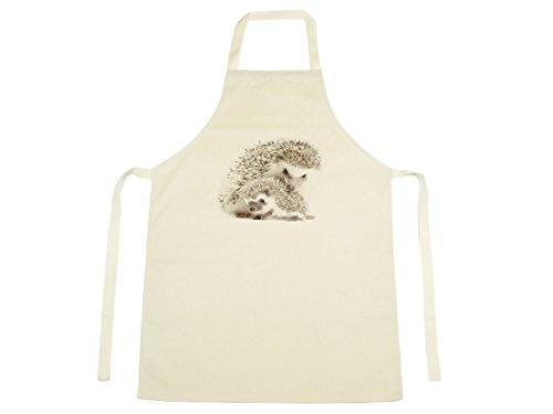 Jack FAIRWEATHER–Igel Aquarell Design gedruckt auf natürliche Baumwolle Schürze Farm Nature 1111 (Natürliche Schürze Baumwolle)