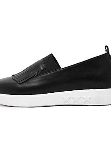 ZQ gyht Scarpe Donna-Mocassini-Casual-Comoda-Plateau-PU-Nero / Bianco , white-us8.5 / eu39 / uk6.5 / cn40 , white-us8.5 / eu39 / uk6.5 / cn40 black-us8 / eu39 / uk6 / cn39