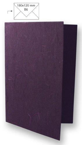 Rayher - Karte B6, hochdoppelt, 232x168 mm, Japanseide, 150g, Beutel 5 Stück, pflaume