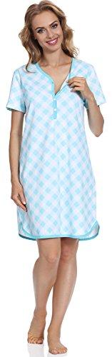 Cornette Damen Stillnachthemd CR6172016 (Muster-10, S) (Runde-hals-mutterschaft-kleider)