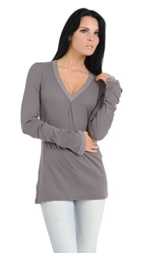 Schiesser Revival Damen Shirt langer Arm Ursula 129519 Graphit