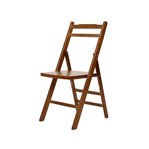 TD26 Chaise pliante en bois massif en bambou, dossier de maison Chaise d'ordinateur moderne simple repas Mahjong chaise de bureau
