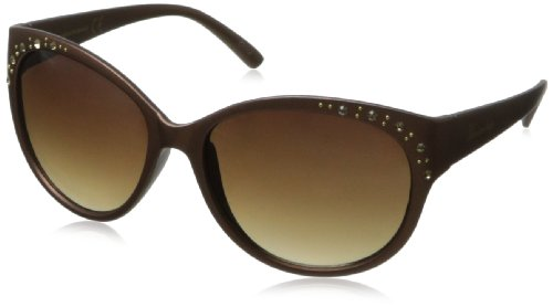 union-bay-womens-u237-cat-eye-sunglassesbrown-matte56-mm