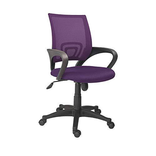 Adec - Logic, Silla de Oficina, Silla de Escritorio, Silla despacho, color Violeta Medidas: 60 cm (ancho) x 60 cm (fondo) x 90-112 cm (alto)