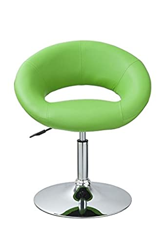 Esszimmerstuhl / Lounge Sessel Grün Kunstleder Clubsessel höhenverstellbar Barsessel Duhome