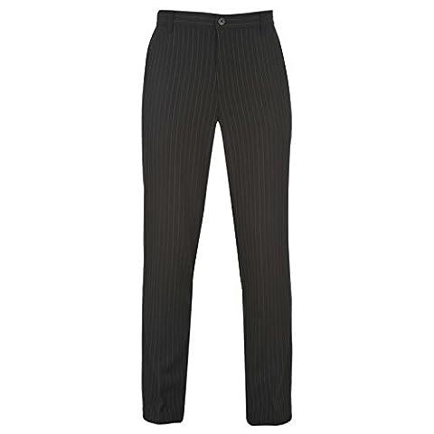 Slazenger Mens Golf Pin Striped Trousers Pants Bottoms Rubberised Trim Black 34W S