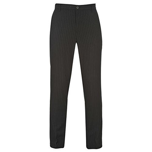 slazenger-mens-golf-pin-striped-trousers-pants-bottoms-rubberised-trim-black-34w-s