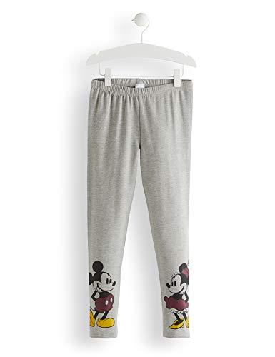Red wagon minnie mouse and mickey mouse greymarl leggings bambina, grigio (grey marl), 122 (taglia produttore: 7)