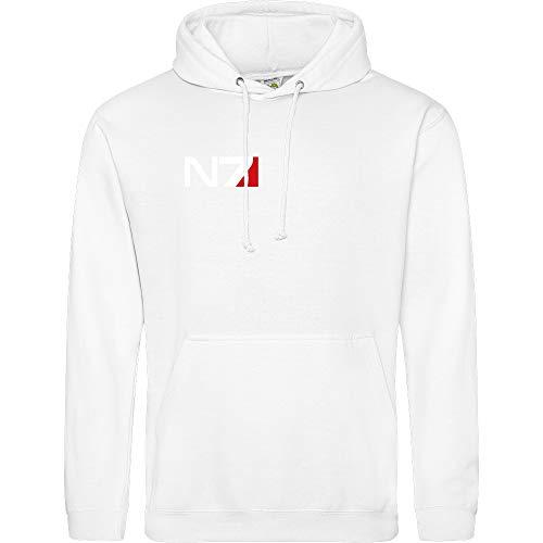 3dsupply N7 Logo - Hoodie, weiß, Gr. S Logo Hoodie Weiß