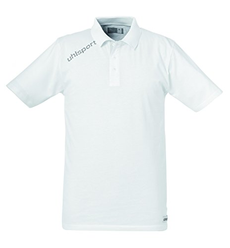 Uhlsport - Essential Maglietta Polo, Unisex, Bekleidung Essential Polo Shirt, bianco, S