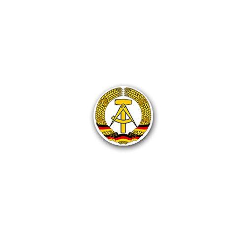 Copytec Aufkleber/Sticker -Ostdeutschland DDR Osten Deutschland Deutsche Demokratische Republik Ossi Ostalgie Wappen Abzeichen 7x7cm #A3170