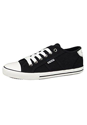 LA Gear sneakers Alba Grigio L38-3609-01 Grigio Nero Jersey Black