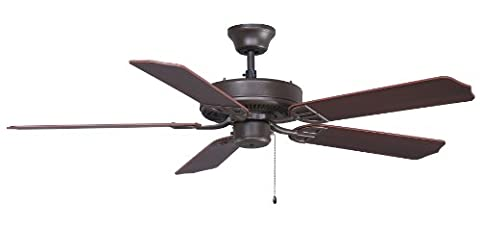 Fanimation BP200OB1-220 52-Inch Aire Decor Builder 5-Blade Ceiling Fan with 220-Volt White Bulb, Oil Rubbed Bronze