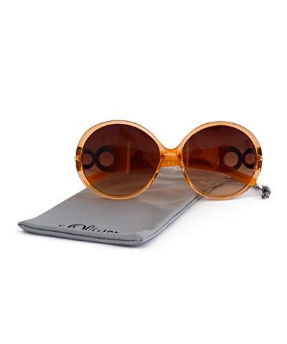 s.Oliver Damen Vollrand - Sonnenbrille Modell 98973, 100% UV-Schutz, mit CE Zeichen, Tönung der Kategorie 2, orange transparent