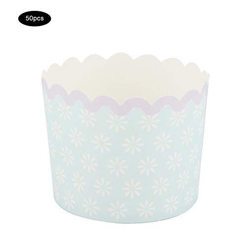 AUNMAS Cartoon Cupcake Liner Medium Blue Dots Entwickelt Papier Kuchen Backförmchen für Zuhause Birthday Party Supplies 50PCS(2#) - Dots Cupcake Liner