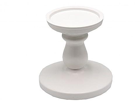Kerzenhalter Kerzenständer Weiß Kommunion Konfirmation Tischdeko