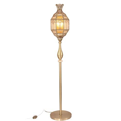 ZNND Stehlampe Kronleuchter Retro Licht, Wand Kupfer Alle Bronze Tisch Europäischen Boden Anwendbar Wohnzimmer Büro Restaurant Schlafzimmer 150 * 25 cm -