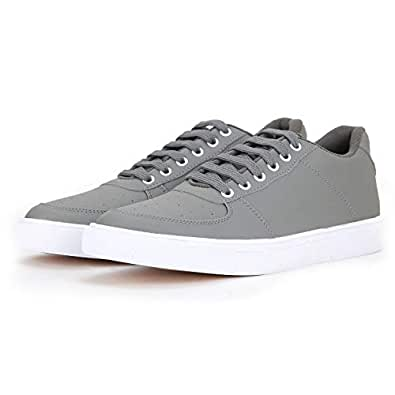 "Boltt Men's ""Walk & Earn Money"" Grey Polyurethane Envy Smart Casual Shoes Sneakers (10)"