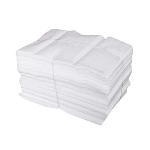 NUOBESTY 50 piezas 25 x 30 cm cojines espuma bolsas seguro Wrap Cup vajilla cristal porcelana muebles embalaje entrega para mudanza almacenamiento (blanco)