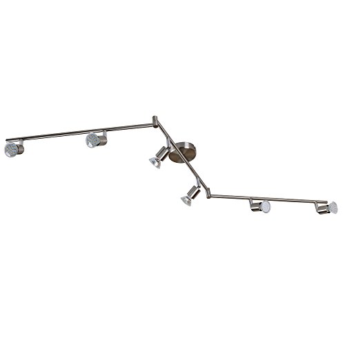 Preisvergleich Produktbild Grafner® LED Deckenlampe 6 flammig incl. LED-Leuchtmittel 3 Watt 3000K Spots Wandlampe GU10 Lampe Leuchte Strahler sechsflammig Spot