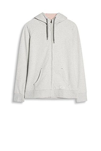 Esprit Sports 017ei1j008-Kapuzensweatjacke, Sweat-Shirt Femme Gris (Light Grey 2 041)
