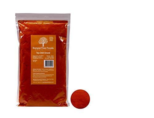 Frische sonnengetrocknete authentische Teja Red Chillies Pulver (extra heißer indischer Chili Pulver) Packung von 500g (Red Chili-pulver)