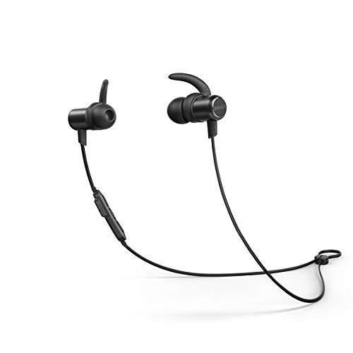 Cuffie Sportive Anker Soundbuds Slim, Auricolari in-ear bluetooth leggere e senza fili, resistenti all'acqua IPX5, con Microfono, per iPhone, iPad, Samsung, Nexus, HTC e Altro.