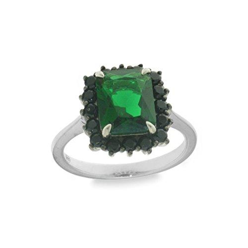 Anniversary Collection Ring Sterling Silber 925RZB80403 fedina, Queen Material Glas farbig in Form Baguette, geometrischen, rechteckigen zirkon - 12 -