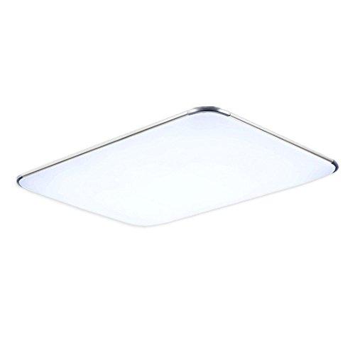 MCTECH 48W LED Deckenleuchte Ultraslim Modern Deckenlampe Flur Wohnzimmer Lampe Schlafzimmer Küche Energie Sparen Licht Wandleuchte Farbe Silber Kaltweiß